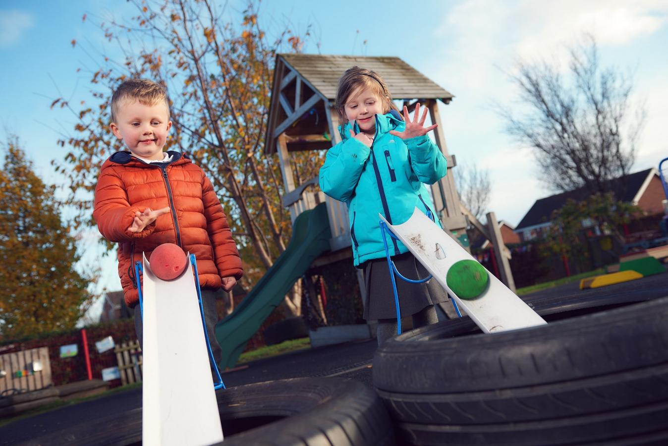 Towngate pupils playing