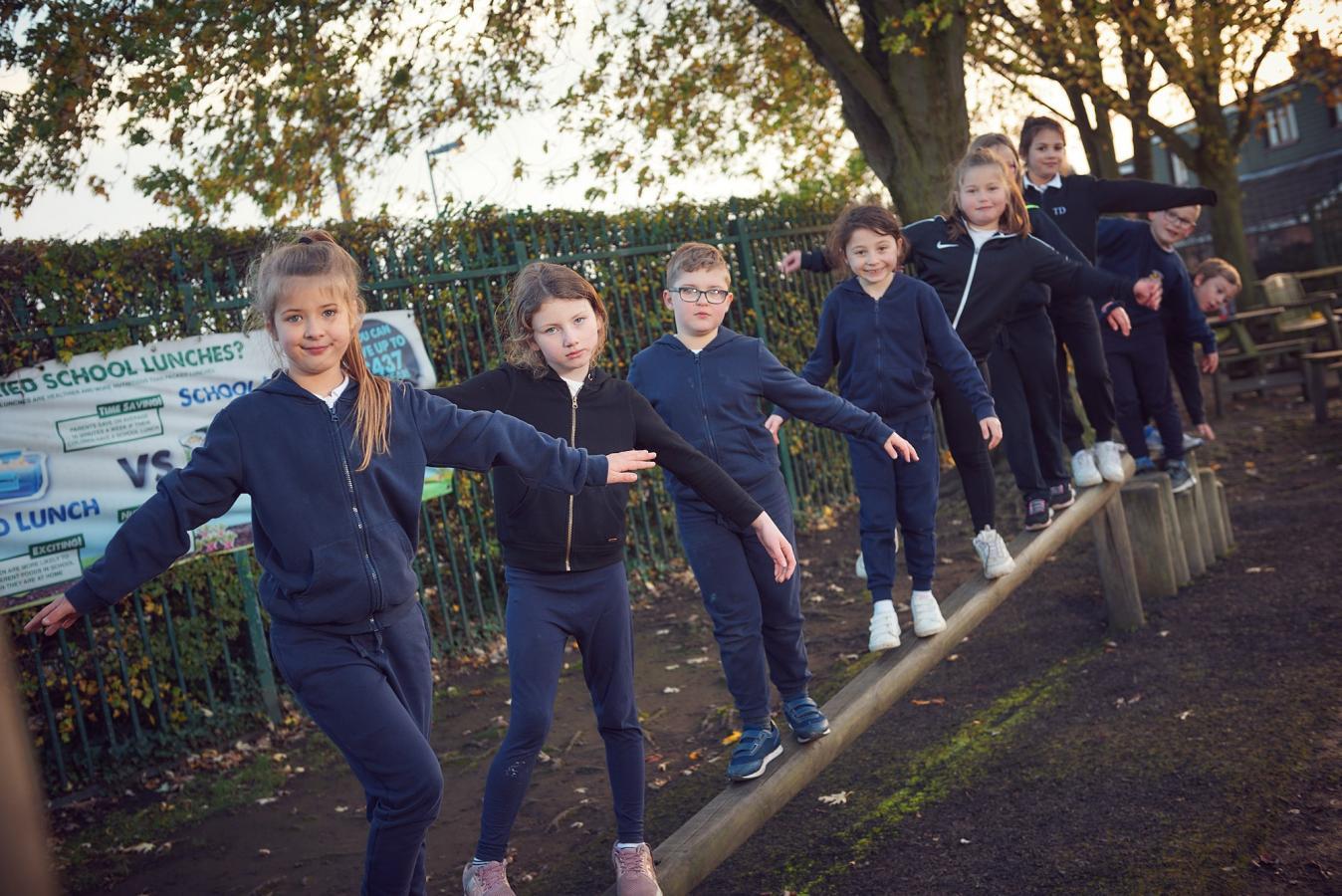 Towngate pupils balancing